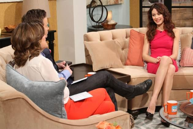 Olga Kurylenko stops by Access Hollywood Live on April 11, 2013  -- Access Hollywood
