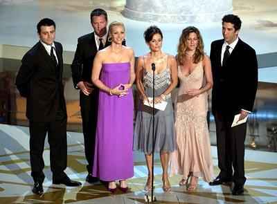 Matt LeBlanc, Matthew Perry, Lisa Kudrow, Courteney Cox, Jennifer Aniston and David Schwimmer Emmy Awards - 9/22/2002