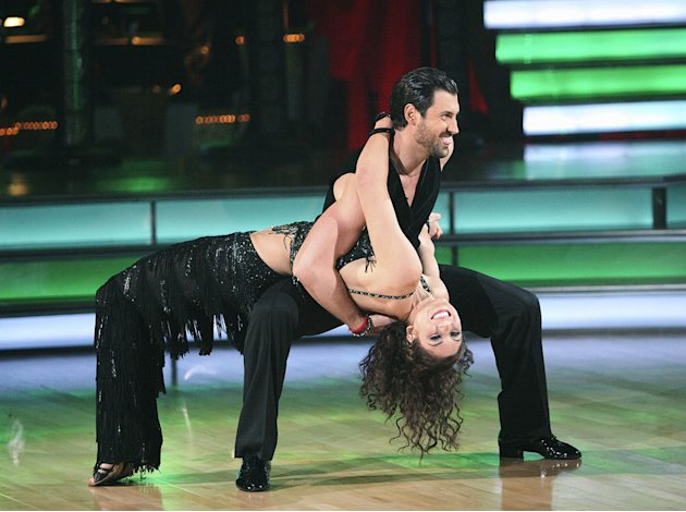 Maksim Chmerkovskiy and Hope Solo perform on &quot;Dancing With the Stars.&quot; 