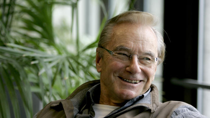 FILE - In this Oct. 30, 2007 file photo, Tom Perkins smiles during an interview, in San Francisco. Perkins serves on the New Corporation's board of directos.(AP Photo/Ben Margot, file)