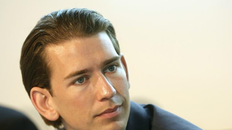 Austrian Foreign and Integration Minister Kurz attends a news conference in Vienna