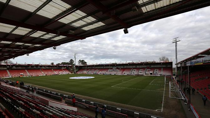 A general view shows the Dean Court stadium in Bournemouth on January 25, 2014