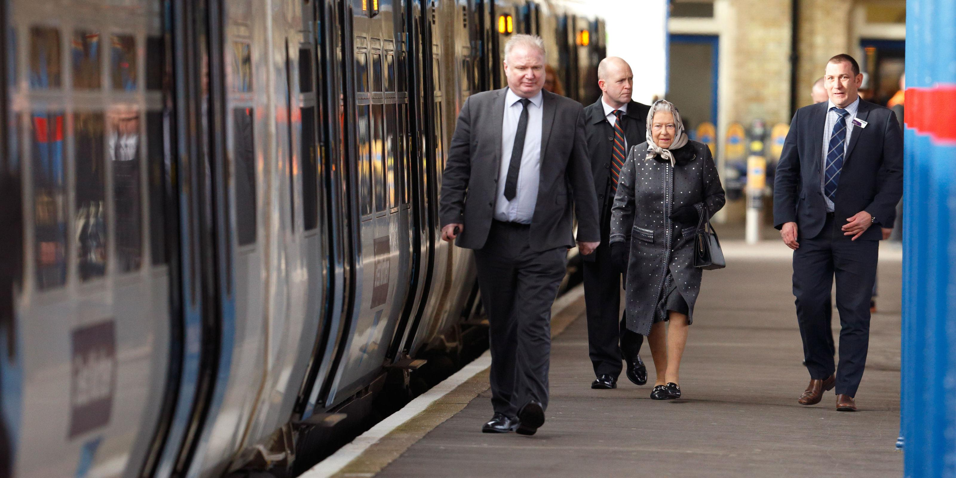 The Queen Took a Commuter Train