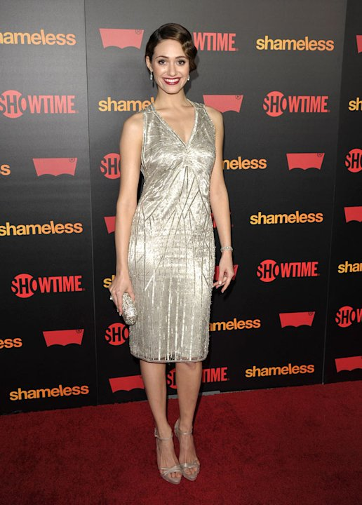 "Emmy Rossum attends the ""Shameless"" Season 2 Reception at Haus Los Angeles on January 5, 2012 in Los Angeles, California."