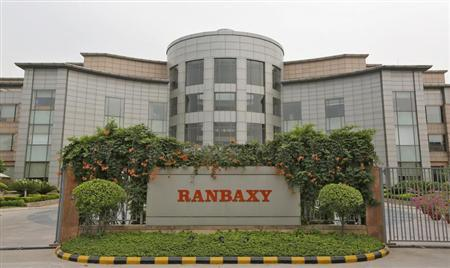 A general view of the office of Ranbaxy Laboratories is pictured at Gurgaon