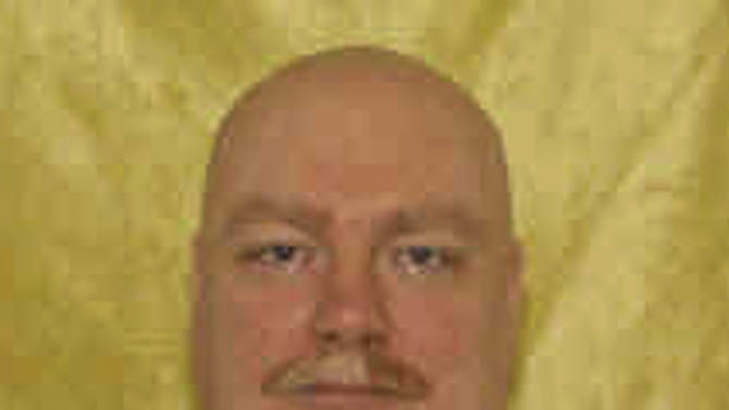 This undated photo released by the Ohio Department of Rehabilitation and Corrections shows Frederick Treesh.  The Ohio parole board unanimously rejected a plea for mercy from a condemned man Friday, Feb. 8, 2013 who fatally shot an adult bookstore security guard in northeast Ohio. (AP Photo/Ohio Department of Rehabilitation and Corrections)