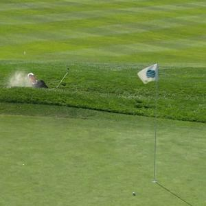 Danny Lee's blind bunker hole out at AT&T Pebble Beach