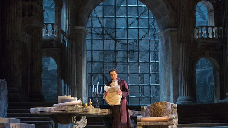 "This Nov. 13, 2012 photo provided by the Metropolitan Opera shows Giuseppe Filianoti in the title role of a dress rehearsal of  Mozart's ""La Clemenza di Tito,"" at the Metropolitan Opera in New York. (AP Photo/Metropolitan Opera, Ken Howard)"