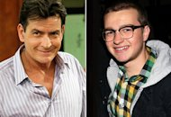 Charlie Sheen, Angus T. Jones | Photo Credits: Greg Gayne/FX; David Livingston/Getty Images