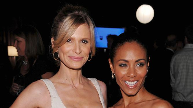 Kyra Sedgewick and Jada Pinkett Smith attend the 2009 Turner Upfront at Hammerstein Ballroom on May 20, 2009