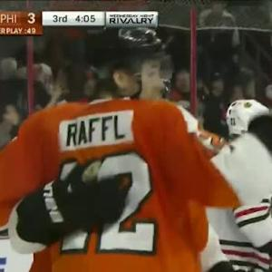 Michael Raffl Goal on Corey Crawford (15:55/3rd)