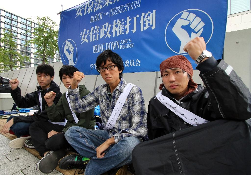Japan students on hunger strike over security bills