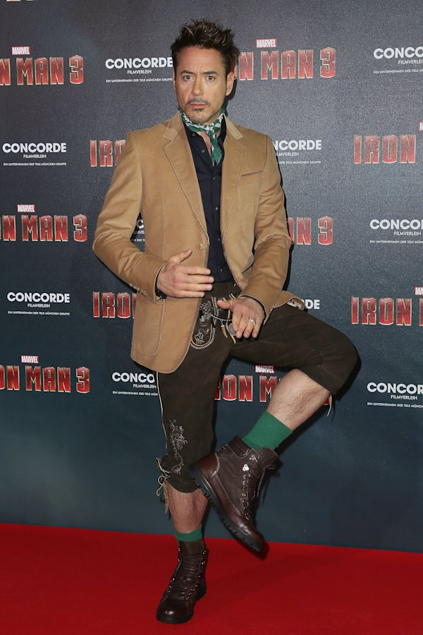 robert downey jr lederhosen