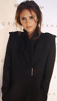 Victoria Beckham does soft shimmer in Dublin