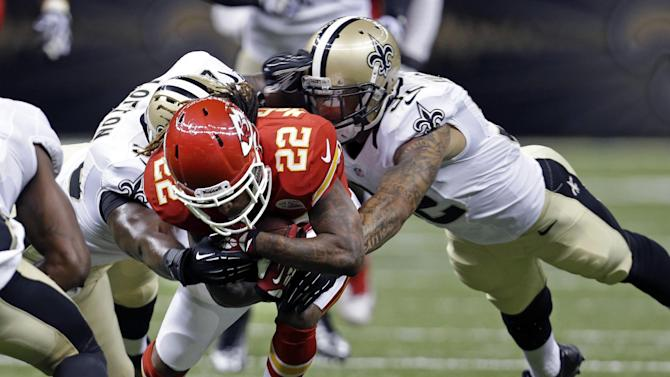 Parker's 2 TDs help Saints top Chiefs, 17-13