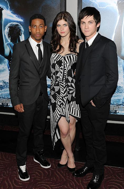 Percy Jackson and the Olympians NY premiere 2010 Brandon T. Jackson Alexandra Daddario Logan Lerman
