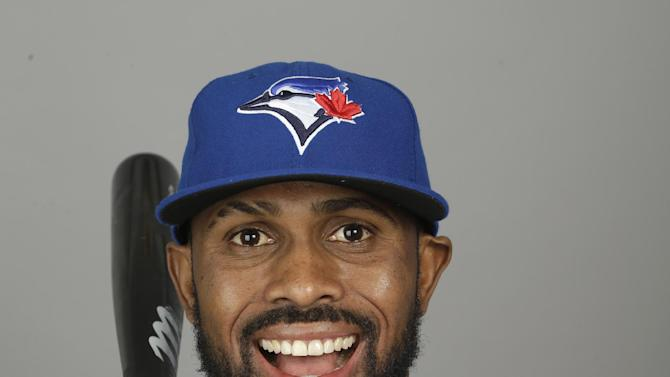 This is a 2015 photo of shortstop Jose Reyes of the Toronto Blue Jays baseball team. This image reflects the Toronto Blue Jays active roster as of Saturday, Feb. 28, 2015, when this image was taken at spring training in Dunedin, Fla. (AP Photo/Lynne Sladky)