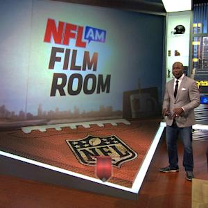 In the film room with Terrell Davis