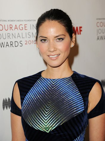Olivia Munn attends the Courage in Journalism Awards inn Beverly Hills on October 29, 2012.