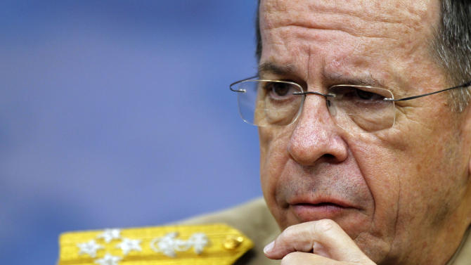 Chairman of the Joint Chiefs of Staff Adm. Mike Mullen speaks during a media availability at the Pentagon Thursday, June 16, 2011 in Washington.(AP Photo/Alex Brandon)