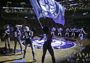 The Brooklynettes perform during introductions before the Brooklyn Nets play the Utah Jazz in NBA basketball game in New York