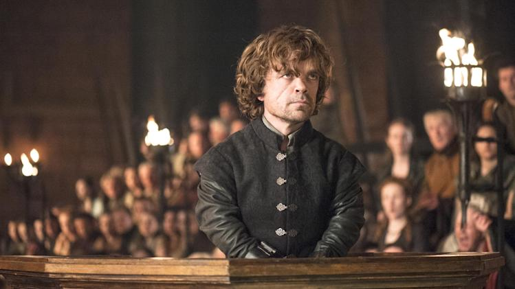 "This image released by HBO shows Peter Dinklage in a scene from ""Game of Thrones."" The series garnered 19 Emmy Award nominations on Thursday, July 10, 2014, including one for best drama series. (AP Photo/HBO, Helen Sloan)"