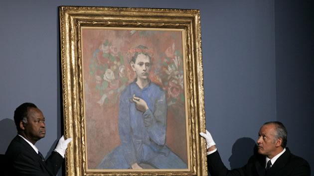"""""""Boy with a Pipe"""" by Pablo Picasso, sold for $104.2 million in 2004."""
