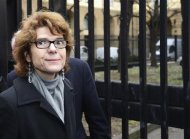 Vicky Pryce, the ex-wife of former Liberal Democrat cabinet minister Chris Huhne, arrives for sentencing at Southwark Crown Court in London March 11, 2013. REUTERS/Paul Hackett