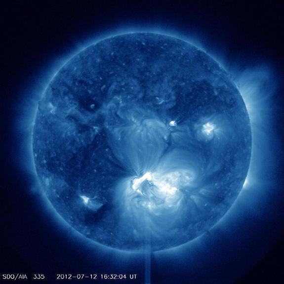 Solar Storm Bombarding Earth Today