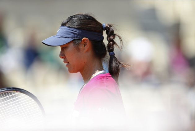 China's Li Na attends a training session for the French Open tennis tournament at the Roland Garros stadium in Paris
