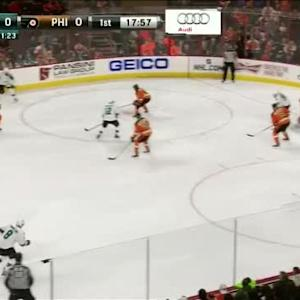 Steve Mason Save on Brent Burns (02:06/1st)