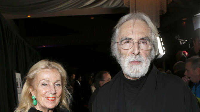 Susanne Haneke and Michael Haneke attend the LA Film Critics Association Awards at the InterContinental Hotel on Saturday, Jan. 12, 2013, in Los Angeles. (Photo by Todd Williamson/Invision/AP)