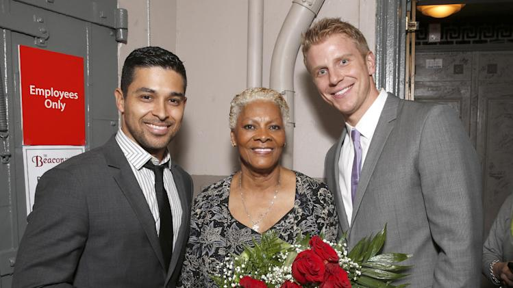 IMAGE DISTRIBUTED FOR BRIGHT FUTURE INTERNATIONAL - From left, Wilmer Valderrama, Dionne Warwick and Sean Lowe attend Beyond the Ballet Presented by Bright Future International at the Beacon Theater on Wednesday, May 8th, 2013 in New York City, New York. (Photo by Todd Williamson/Invision for Bright Future International/AP Images)