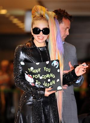 Lady Gaga is spotted at Narita International Airport in Toyko on May 8, 2012 -- Getty Premium