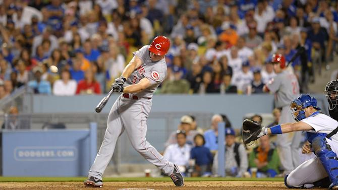 Bruce, Paul homer to back Latos, Reds top Dodgers
