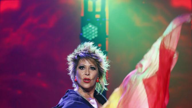 Mexican singer-songwriter Alejandra Guzman performs during the first-ever iHeartRadio Fiesta Latina at The Forum in Inglewood, California