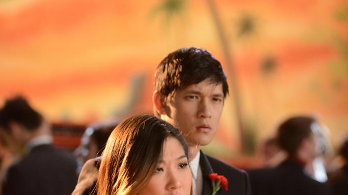 Mike (Harry Shum Jr., R) and Tina (Jenna Ushkowitz, L)