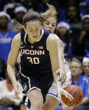 No. 1 UConn women rout No. 2 Duke, 83-61