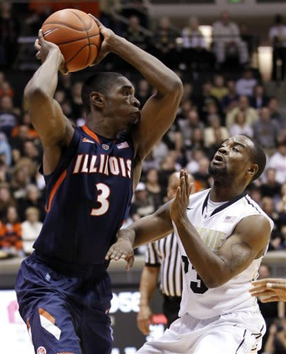 Barlow's 14 points lead Purdue over Illinois 75-60