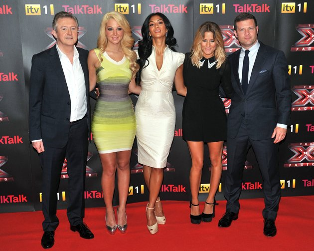 Dermot O'Leary and X Factor judges