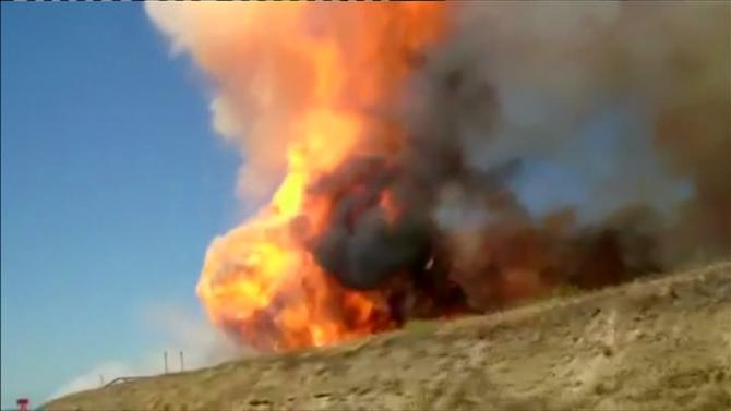 At least 15 injured in a California natural gas pipeline explosion