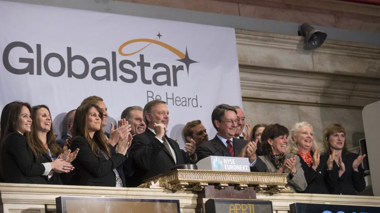 Globalstar Chairman and CEO Jay Monroe rings the Opening Bell at the New York Stock Exchange