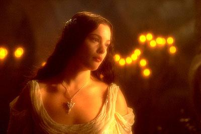 Liv Tyler as Arwen in New Line's The Lord of The Rings: The Fellowship of The Ring