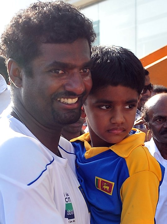 Sri Lankan cricketer Muttiah Muralithara