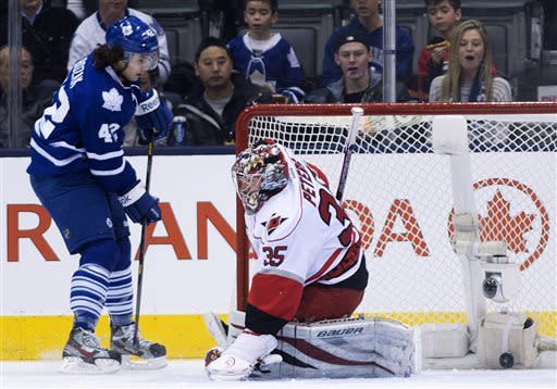 Lupul gets go-ahead goal as Leafs hold off 'Canes