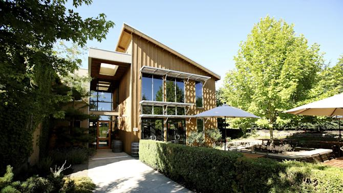 This undated image provided by Carlton Winemakers Studio shows the exterior of the studio in Carlton, Ore., where small winemakers can start out, using communal equipment and pooling expertise until they can establish their own facilities. Oregon is home to 500 wineries and is known for pinot noir. (AP Photo/Carlton Winemakers Studio, Clay McLachlan)