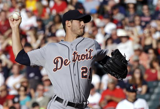 Porcello, Tigers rout Indians 7-0