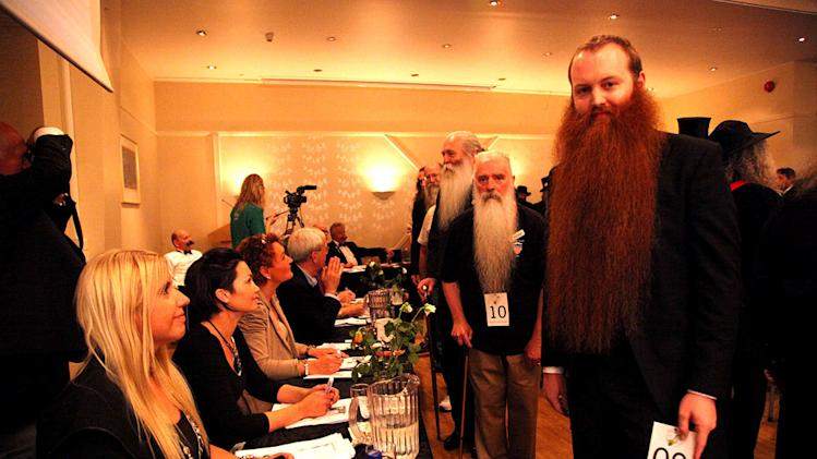 "Whisker Warrior Jack Passion competing at the 2011 World Beard Championship in Norway as seen on ""Whisker Wars."""