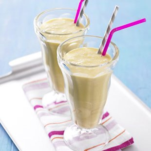 Peaches and Cream Malted Milkshake: Recipes