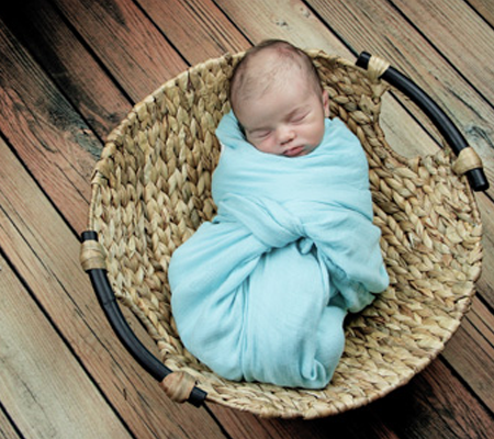 Precious, Rustic Swaddling and Basket